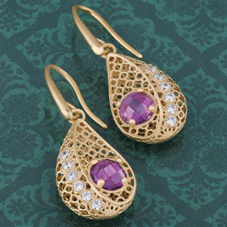 Amethyst Renaissance Earrings