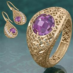Amethyst Renaissance Ring & Earrings