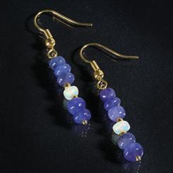 Spirit of Africa Tanzanite & Opal Earrings (10 ctw)