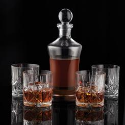 Decanter and Double Old Fashioned (Set of 4)