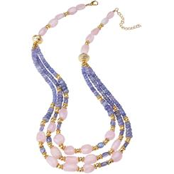 "Tanzanite & Morganite Lost Safari 18"" Necklace"