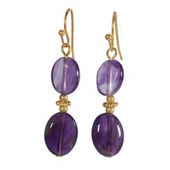 Amethyst Celebration Earrings (20 ctw)