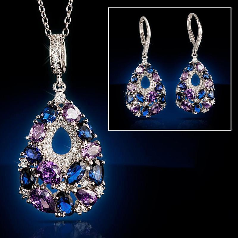 Sparkle Teardrop Collection Necklace And Earrings