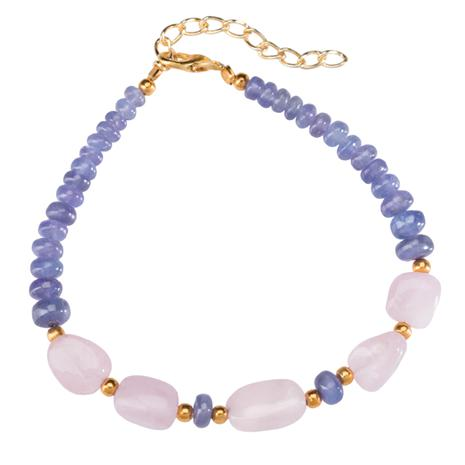 Tanzanite & Morganite Lost Safari Bracelet