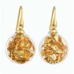24K Gold Murano Glass Earrings