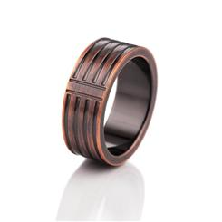 Mens Clarity Ring and Free Lockback Knife