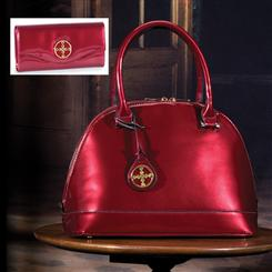 Stauer Red Holly Handbag & Wallet