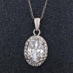 DiamondAura Halo Pendant