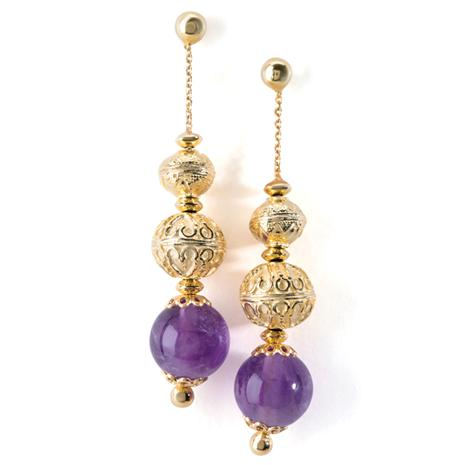 Medici Amethyst Earrings