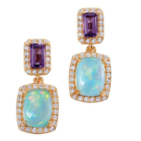 Opal Rainbow Earrings