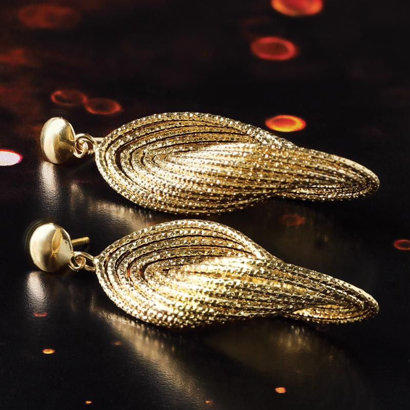 Infinity Italian Gold Earrings