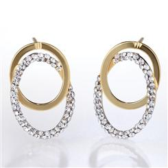 14K Gold Doppio Cerchio Earrings