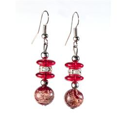 Rosso Murano Earrings
