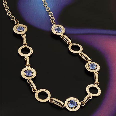 14K Gold Tanzanite Necklace