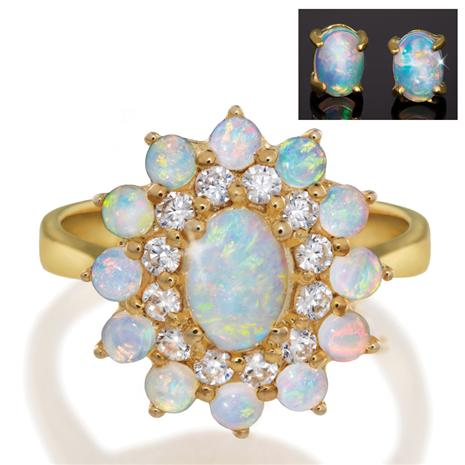 Outback Opal Ring & Earrings