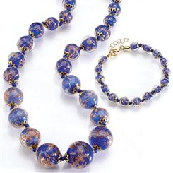 Royal Palazzo Murano Necklace and Bracelet Set