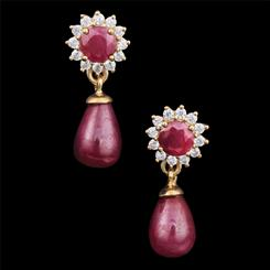 Renaissance Ruby Earrings
