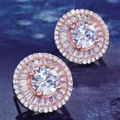 DiamondAura Halo Collection Earrings