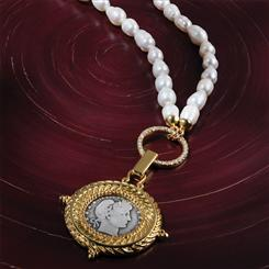 Liberty Head Pearl Necklace