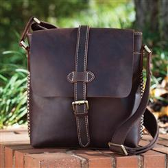Streamline Leather Satchel Messenger Bag