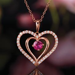 Ruby Pure Heart Pendant (1 ⅓ ctw)