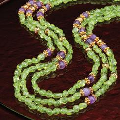 Peridot & Amethyst Complementi Necklace (310 ctw)