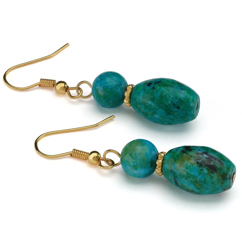 Natural Beauty Chrysocolla Earrings