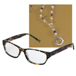Stauer Readers and Reading Glass Necklace