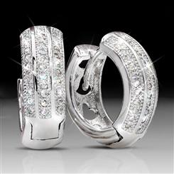DiamondAura Huggie Hoop Earrings