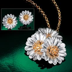 Primavera Collection Pendant, Chain & Earrings