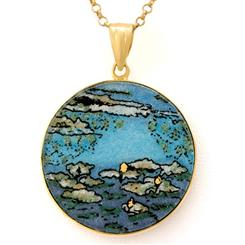 Water Lilies Pendant & Chain