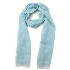 Lake Como Italian Scarf (light blue)