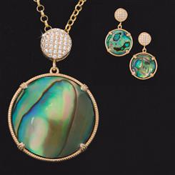 Ama Abalone Collection (Pendant, Chain & Earrings)