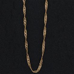 Italia 14K Gold Curve Link Necklace