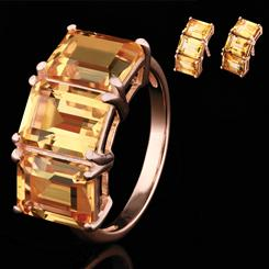 Citrine Freedom Collection (Ring & Earrings)