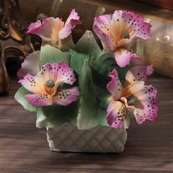 Orchid Bouquet Capodimonte Sculpture