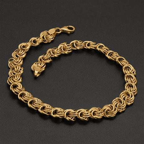 18K Italian Gold Over Sterling Rosetta Bracelet