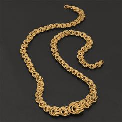 18K Italian Gold Over Sterling Rosetta Necklace