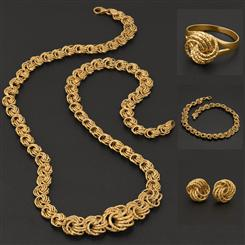 18K Italian Gold Over Sterling Rosetta Collection