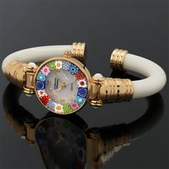 Fiori Murano Bangle Ivory Watch