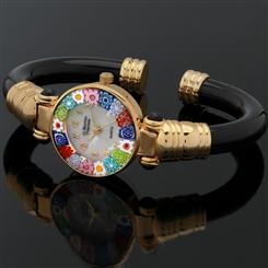 Fiori Murano Bangle Onyx Watch