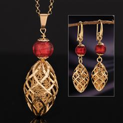 Arte Italia Murano Collection (Pendant, Chain and Earrings)