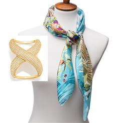 Farfalla Silk Scarf plus Scarf Ring