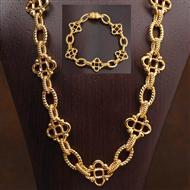 14K Italian Gold Eleanor Necklace & Bracelet