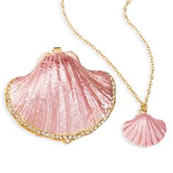 Scallop Shell Box with matching Necklace