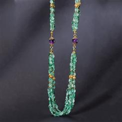 Apatite & Amethyst Connoisseurs Necklace (450 ctw)