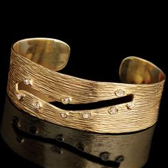 Cutaway Diamond Collection Cuff Bracelet