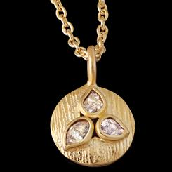Cutaway Diamond Pendant and Chain