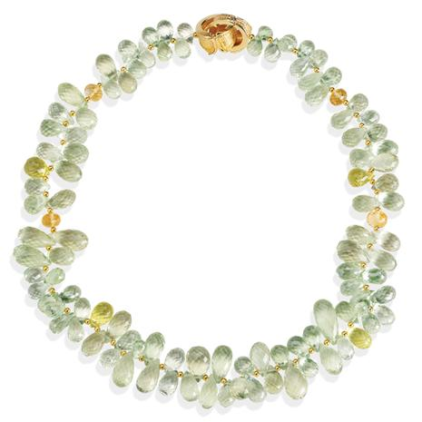"Green Amethyst & Citrine 20"" Necklace (480 ctw)"