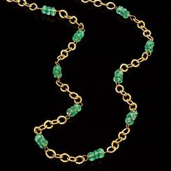14K Italian Gold & Emerald Epitome Necklace